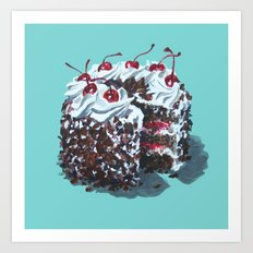 Dessert : Black Forest Cake Art Print