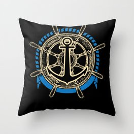 Boat Captain On The Sea Gift Idea Throw Pillow