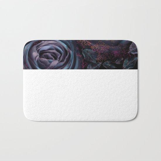 Purple roses. Bath Mat