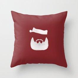 christmas .. santa's beard Throw Pillow