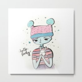 Hello lovely bunnygirl Metal Print