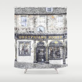 Greyfriars Bobby Pub Snow Shower Curtain