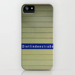 Munich U-Bahn Memories - Dietlindenstraße iPhone Case