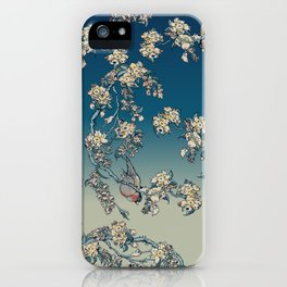 Bullfinch and French Bulldog Cherry iPhone Case