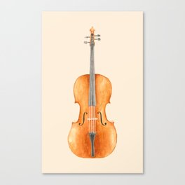 Cello - Watercolors Canvas Print