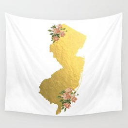 Baesic Gold Foil New Jersey Wall Tapestry