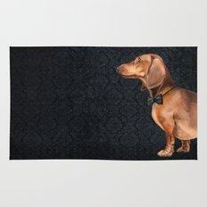 Elegant dachshund. Rug