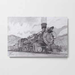 Durango and Silverton Steam Engine Metal Print