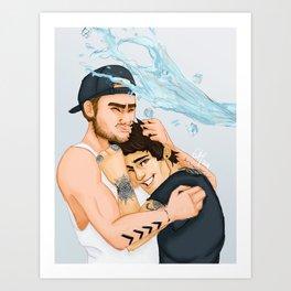 Ice Bucket Challenge Ziam Art Print