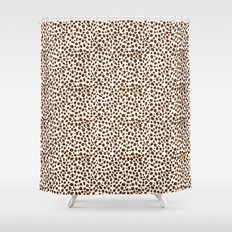 Brown Animal Print Shower Curtain