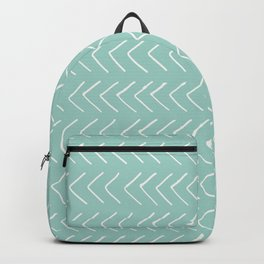 Hand painted pastel green white geometrical chevron Backpack