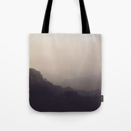 Smoky Hazy Sunset in the Grand Canyon Tote Bag