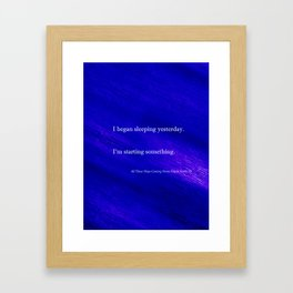 All Those Ships Coming Home Framed Art Print