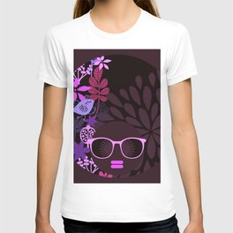 Afro Divva Magenta Lavender Eggplant T-shirt