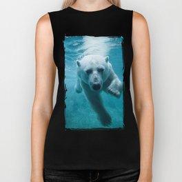 Polar Bear Swimming Biker Tank