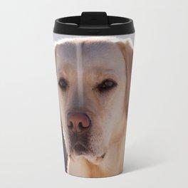 Portrait of A Golden Labrador Retriever Travel Mug