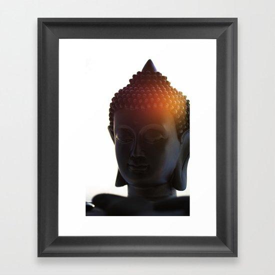Buddha Lights Framed Art Print
