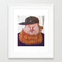 action bronson Framed Art Prints featuring Action Bronson by Josephine Guan