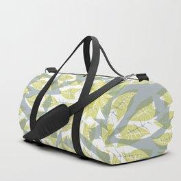 Leaf mandala // tropical leaf circular pattern Duffle Bag