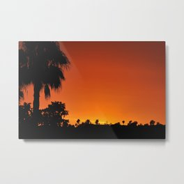 CALIFORNIA SUNSET Metal Print
