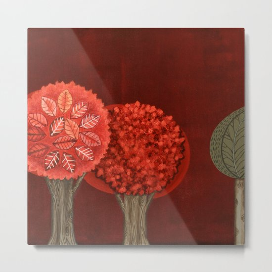 Red Grove Metal Print
