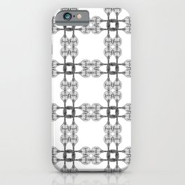 Minimalist Drawing of a Mandolin Pattern Plaid iPhone Case