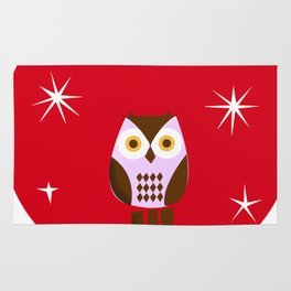 Owl ( alternative red version) Rug