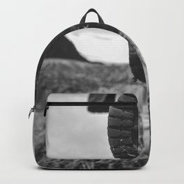 Let's Explore (Black and White) Backpack