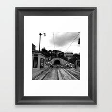 Duboce Tunnel Again Framed Art Print