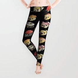 Sushi Pug Watercolor Leggings