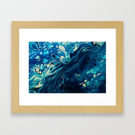 River of Blue Framed Art Print