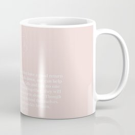 Ecclesiastes 4:9-12 A Cord of Three Strands Is Not Quickly Broken Line Art Sketch Peach Coffee Mug