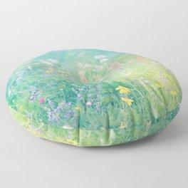 Mountain Wildflowers Floor Pillow