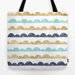 Golden Pastel Clouds Tote Bag