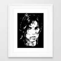 lara croft Framed Art Prints featuring Lara Croft Tombraider by D-fens