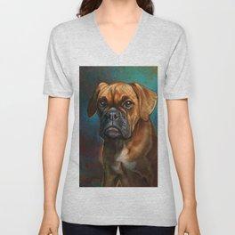 Dog 10, Boxer. Unisex V-Neck