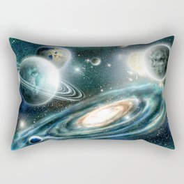 Planets & Black hole Rectangular Pillow