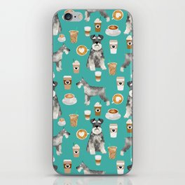 Schnauzer coffee dog breed pet art pure breed cafes pupuccino iPhone Skin