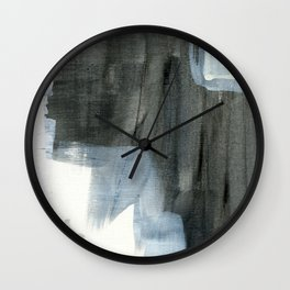 The Curious Inbetween #9 - Abstract Painting Wall Clock