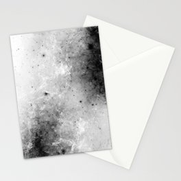 Creeping Black - Abstract black and white Stationery Cards