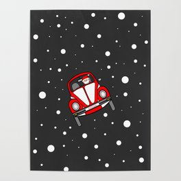 Santas Sleigh Is In The Shop Poster