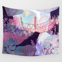 bridge Wall Tapestries featuring Bridge by sarlisart