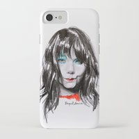 bjork iPhone & iPod Cases featuring Bjork Portrait by Raquel García Maciá