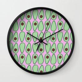 Picking Avocados Wall Clock