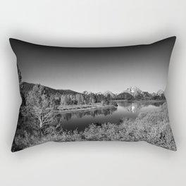 Snake River toward Mount Moran Rectangular Pillow