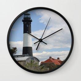 Walkway To Fire Island Lighthouse Wall Clock