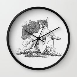 Above the clouds. Wall Clock