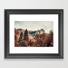 Yosemite Fall Colors Framed Art Print