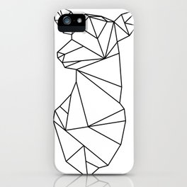 Geometric Doe (Black on White) iPhone Case