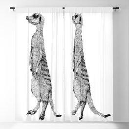 Standing Meerkat Blackout Curtain